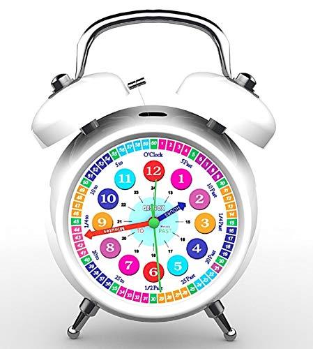 Qesnox Children Alarm Clock Time Teacher Bedroom Table Clock Office Clock...