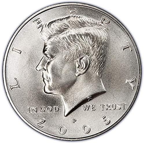 2005 P & D Satin Finish Kennedy Half Dollar Choice Uncirculated US Mint 2 Coin Set