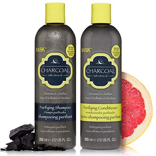 HASK ARGAN OIL Shampoo and Conditioner Set Repairing for All Hair Types, Color Safe, Gluten-Free, Sulfate-Free, Paraben-Free - 1 Shampoo and 1 Conditioner