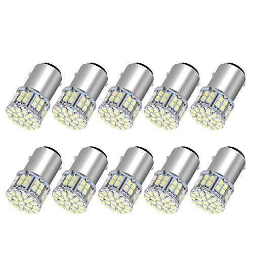 XIAOYAFANG HXFANG 10X 6000K Blanca 1157 50SMD LED de Alta Potencia señal de Vuelta de la Parada de Las Bombillas 1076 12V