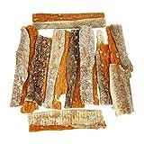 Golosinas para perros, Snacks para Perros Naturales Dentales Masticable con Pollo y Piel de Bacalao Seco, Sabrosos, bajos en grasas y con alto contenido en proteínas, Ricos en OMEGA -3, 100G.