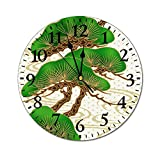 Reloj de pared redondo moderno y elegante de PVC, silencioso, no hace tictac, con números decorativos, ideal para el hogar, cocina, oficina, escuela, bonsai, 30,5 cm