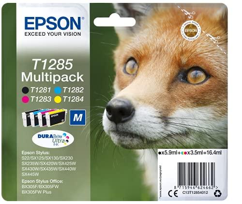 EPSON Encre T1285 cartouche multipack (noir et couleurs)