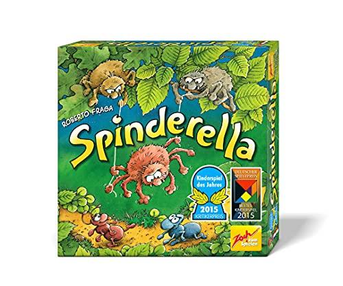 Zoch 601105077 - Spinderella - Kinderspiel des Jahres 2015 - kindgerechtes Wettlaufspiel in unterschiedlichen Schwierigkeitsstufen, für Kinder ab 6 Jahren