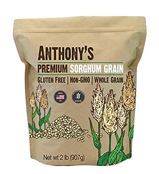 Anthony s Premium Sorghum 2 Pound Whole Grain Gluten Free Non GMO Made in USA