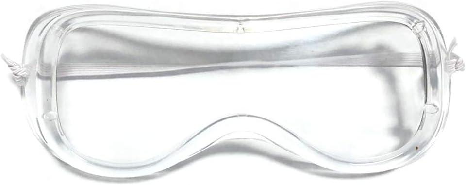 Irishom Gafas Protectoras de Seguridad Cerradas Multifunción Gafas Protectoras Saliva Salpicaduras y Antiniebla Antisand Resistente Al Viento Resistente Al Polvo Transparente Deporte Al Aire Libre
