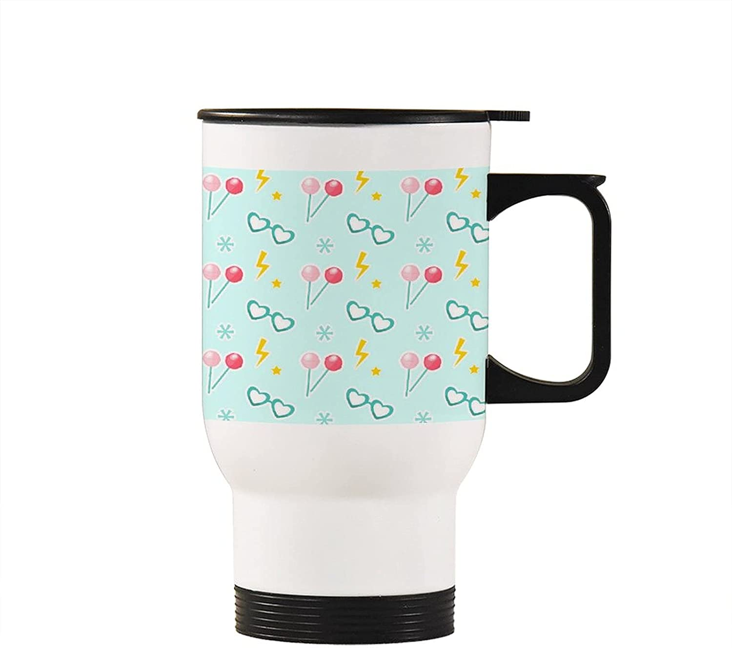 Travel Regular discount Max 55% OFF coffee Mug 14 oz Insulated Handle with on Tumblers Candy