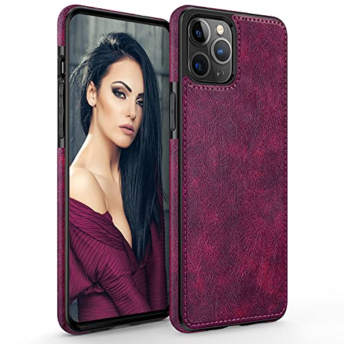LOHASIC for iPhone 13 Pro Max Case, Thin Slim Elegant Luxury PU Leather Cover Flexible Bumper Non-Slip Grip Shockproof Full Protective Girls...