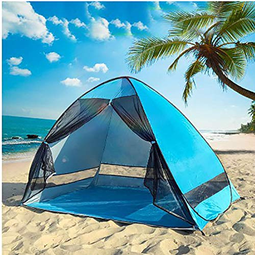 WFGT Carpa de Playa Plegable portátil Carpa de Playa Anti-Ultravioleta Ligera y compacta Ideal para Viajes al Aire Libre para 2-3 Personas