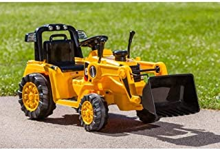 Realistic,Sturdy,Fun and Exciting Kid Trax 6V Caterpillar Tractor Battery Powered Ride-On,Yellow,Great Birthday Idea for Kids