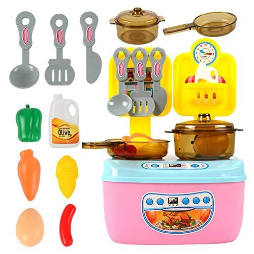 #N/V Los niños de la casa de juegos de cocina juguetes de niños y niñas de cocina utensilios de cocina de los niños de juguetes conjunto