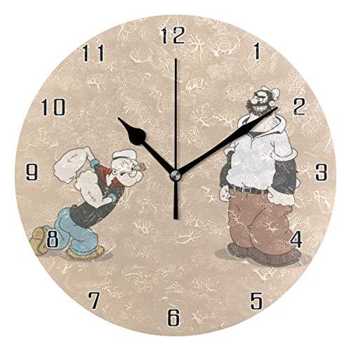 N/A Popeye The Sailor World - Reloj de pared (10 pulgadas)