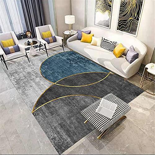 WCCCW Gris Oscuro Gris Gris geométrico Abstracto Costura Sala de Estar Pasillo Pasillo Comedor Dormitorio Cocina Decorativa alfombra-80x160cm para el salón fácil de Limpiar Igual Que la Foto