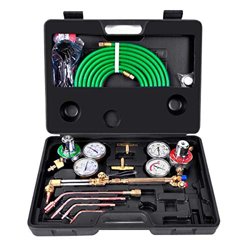 Toolsempire Portable Gas Welding Cutting Kit Oxy Acetylene Oxygen...