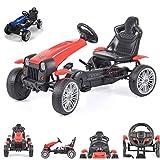 Byox Go-Kart per Bambini Auto a Pedali Matador Pneumatici in plastica Freno, colorazione:Rosso