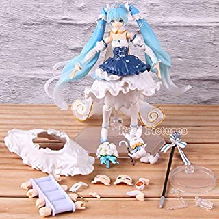 Figma Ex-054 Vocaloid Snow Miku 2019 Snow Princess Ver. PVC Action Figure Collectible Model Toy Gift Must Have Tools Baby Girl Gifts Toddler Favourite Superhero Cupcake Toppers UNbox Game