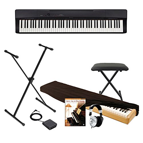 of cheap piano keyboards dec 2021 theres one clear winner Casio Privia Full Size Digital Piano, Keyboard Bench, BEHRINGER Pedal and Keyboard Stand,Dust Cover and Adult All-In-One Course: Lesson-Theory-Technic: Level 1