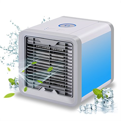 Mini climatiseur mobile avec refroidissement à eau - Ventilateur pour chambre - Déshumidificateur - Mini climatiseur sans tuyau d'évacuation pour la maison