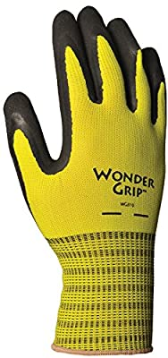 Wonder Grip WG310L Extra Grip Seamless Knit Work Gloves