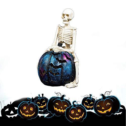 DAMAI STORE La Nueva Simulación Producto De Resina Skeleton Calabaza Iluminación De La Decoración De Halloween Atmósfera Bar Y El Suministro De 22 * 38 Cm (Color : B)