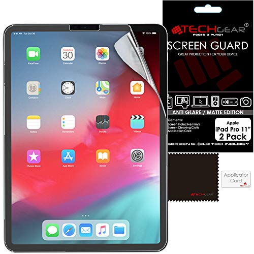 TECHGEAR (2 Stück Matte Bildschirmschutzfolien für iPad Pro 11 (2021/2020 / 2018) - Matte Blendschutz Schutzfolie für iPad Pro 11 2021, 2020, 2018 [3. 2. 1. Generation] Matt Folie