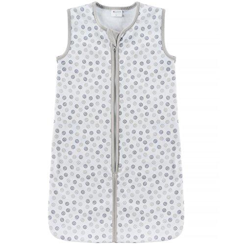 Coconette Sommerschlafsack Circle - leichter Baby Schlafsack ohne Ärmel für Sommer und Frühling - 100% Baumwolle, maschinenwaschbar & trocknergeeignet (90 cm)
