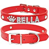 Collar Perro Collares De Perro Con Diamantes De Imitación Brillantes Personalizados, Collar De Chihuahua Para Perros Pequeños,EncantosPersonalizados ConNombre Gratis, Accesorios Para Mascotas, R