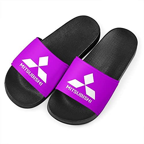 SPONYBORTY Zapatillas de hombre Mitsu-bishi sandalias de playa de moda antideslizantes unisex chanclas de interior y exterior zapatos de natación Zapato/Púrpura / 42