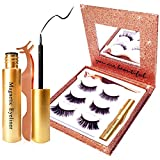 Elevated Magnetic Eyelashes with Eyeliner Kit | Waterproof Magnet Eyelashes Have a Natural 3D Look & Stay On All Day Long | All 3 Styles of Magnetic Lashes are Soft, Thin & Comfortable