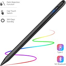 Stylus Pen for iPad with Palm Rejection, Rechargeable Touch Switch iPad Stylus Support 360-Days Standby & 20-Hrs Using Time Work for iPad 2018(6th Gen)/iPad Air 3/iPad Mini 5/ iPad Pro (Black)