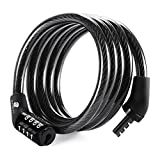 Etronic Security Multi-Purpose Self Coiling Cable Lock, 4-Feet x 5/16-Inch - Black