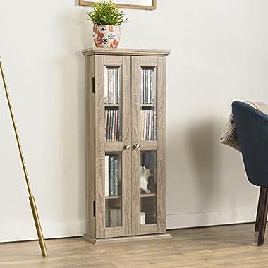 WE Furniture 41  Wood Media Cabinet - Driftwood
