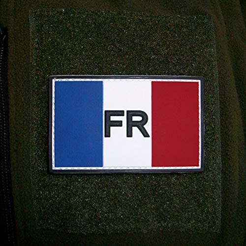 3D Rubber Patch–Francia répu blique Française France Fuerzas Armadas Ejército Bandera de escudo fr armée de Terre nadadores 8x 5cm # 16259