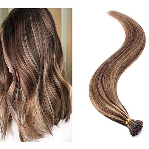Rich Choices I Tip Remy Human Hair Medium Brown & Dark Blonde