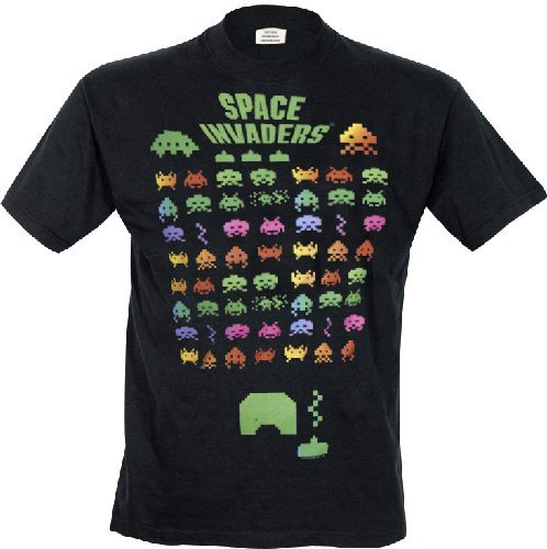 Men's Multi-Coloured Space Invaders Invasion T-shirt, S, M, XL