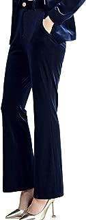 Lrady Women 1 Button Velvet Blazer Coat Slim Fit Casual Lapel Office Jacket Suit