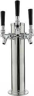 Beverage Factory D4743TT Draft Beer Tower Chrome Triple Faucet 3