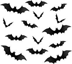 120Pcs Halloween Party Supplies Black PVC 3D Scary Bats Party Decoration Wall Sticker Decal Home Window Door Office Haunted House Decoration Set for Boys Girls Kids