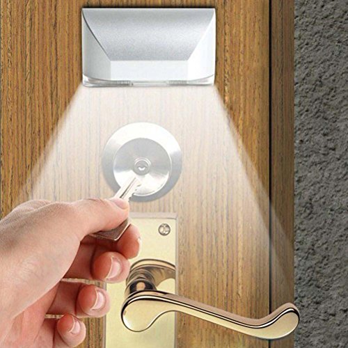 LEDMOMO Keyhole Licht Lampe, IR Wireless Auto Sensor Bewegungsmelder Tür Schlüsselloch 4 LED Licht Lampe
