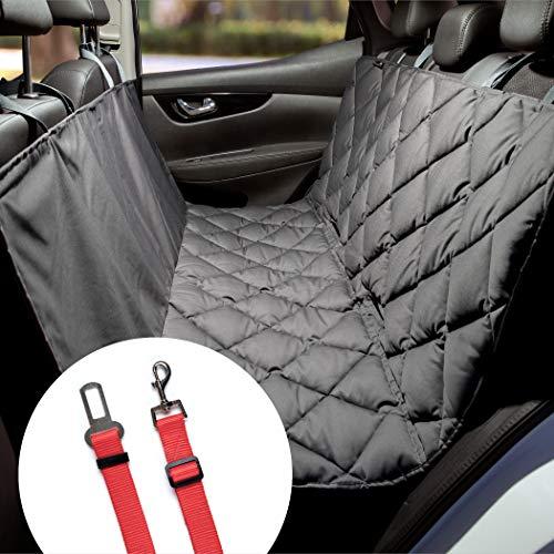 Pointer | Hundedecke Auto Rückbank, robuste Rücksitz Hunde Autoschondecke, waschbar (M - 125 cm breit, Grau)