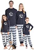 Sleepyheads Matching Family Christmas Pajama Sets, Family Bear Grey Fair Isle - Kids (SHM-5057-K-4T)
