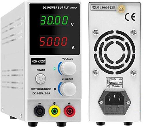 HAHMHO Labornetzgerät, 0-30V 0-5A DC Regelbar Netzgerät Stabilisiert Digitalanzeige Labornetzteil Netzteil Strommessgeräte, Digitales Labornetzgerät, Labor-Stromversorgungen