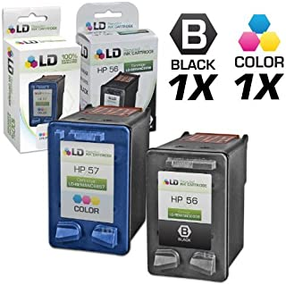 LD Remanufactured Ink Cartridge Replacement for HP 56 & HP 57 (1 Black, 1 Color, 2-Pack)