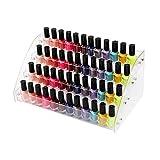 Neckip Großer 2-7 Etagen Acryl Nagellack Ständer für bis zu 84 Nagellack - Kosmetik Display - Make-up Aufbewahrung Four Layers