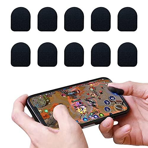 Jusy Lot de 20 autocollants jetables pour doigts et doigts pour écran tactile, respirants et anti-transpiration pour jeu de téléphone (noir)