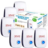 Ultrasonic Pest Repeller 6 Pack, 2021 Newest Upgraded Ultrasonic Pest Repellent Indoor Pest Control Electronic Plug in Insect Repellent for Home, Office, Kitchen, Warehouse, Hotel