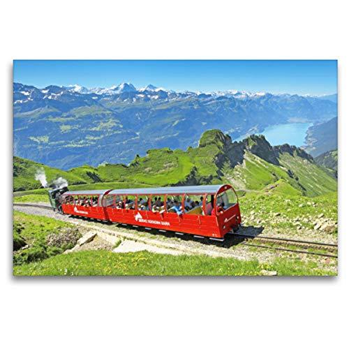 Premium Textil-Leinwand 120 x 80 cm Quer-Format Brienzer Rothorn-Bahn (Zahnradbahn), Schweiz.   Wandbild, HD-Bild auf Keilrahmen, Fertigbild auf hochwertigem Vlies, Leinwanddruck von CALVENDO Verlag