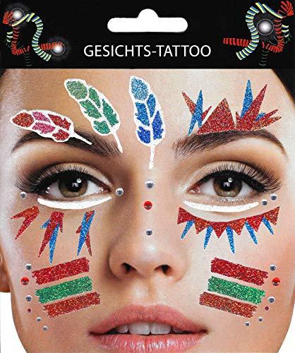 Gesichtstattoo Indianer Tattoo Karneval Junggesellenabschied Kindergeburtstag