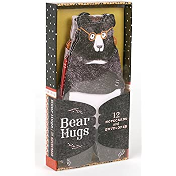 Bear Hugs: 12 Notecards and Envelopes (Unique Bear Themed Greeting Cards for Friends and Family, Cute Animal Illustrated Stationery)