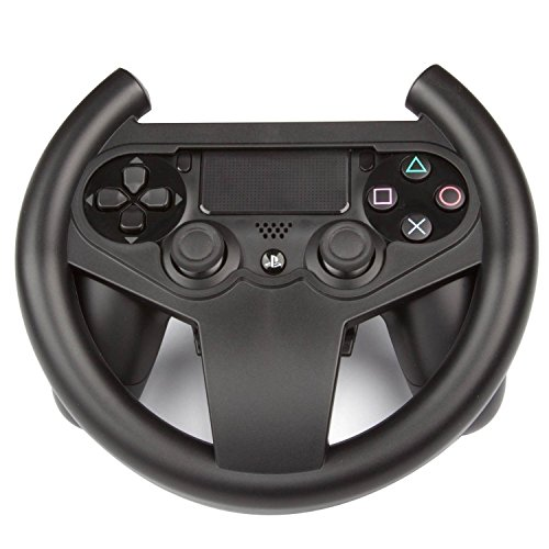 Link-e ® - Lenkrad Racing Wheel Für Gamepad, Wireless Controller Auf Der Sony PS4 Playstation 4 Konsole (The Crew, Dirt Rally, WRC, Drive Club, Project Cars, Need For Speed...)